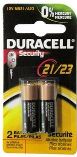 0762022254457 - DURACELL 12 VOLT ALKALINE ALARM REMOTE BATTERY MN21 / A23 2 PACK