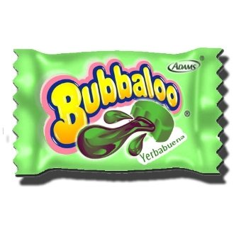 7622210416803 - BUBBALOO MEXICAN CHEWING GUM, YERBA BUENA (PEPPERMINT), 50 PIECES