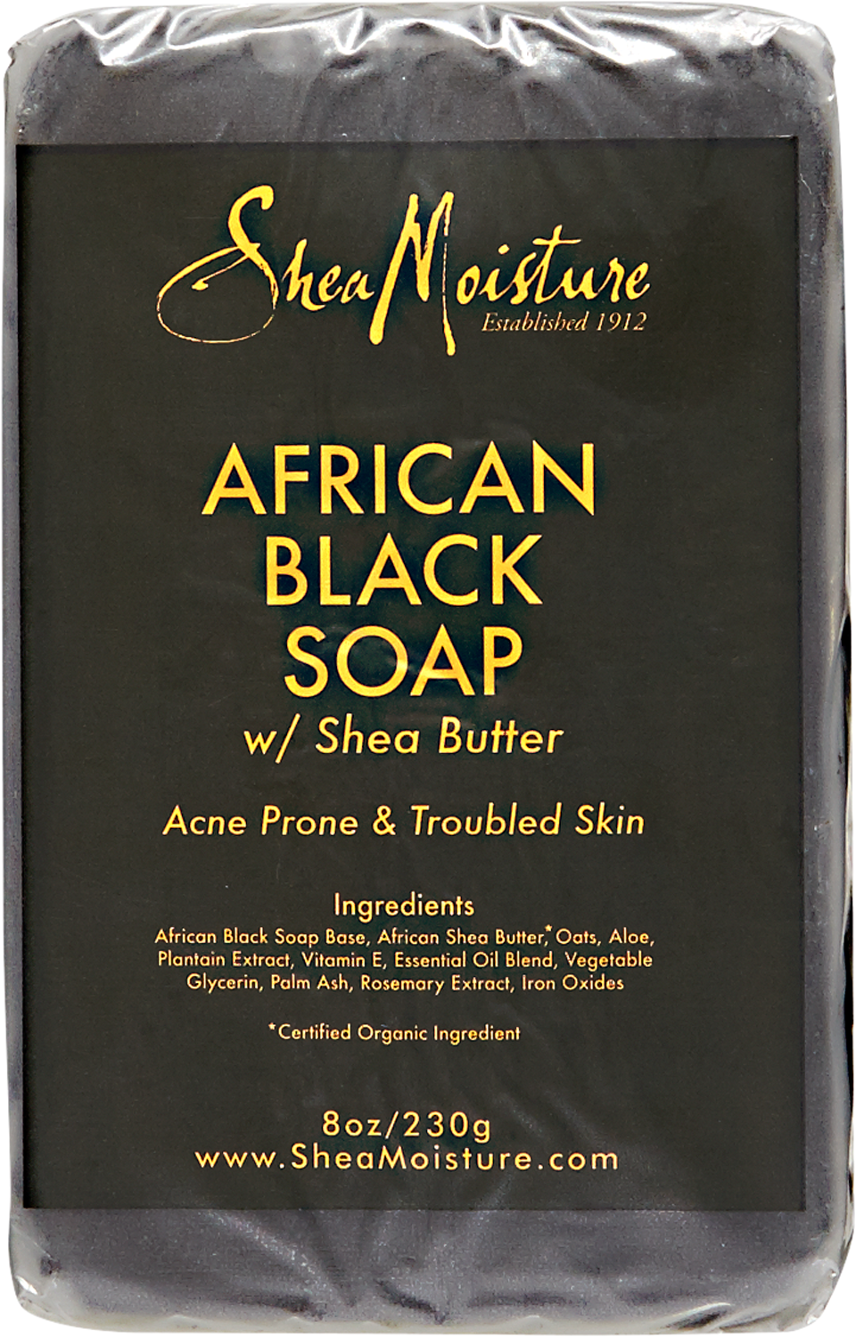 0764302233039 - ORGANIC AFRICAN BLACK SOAP BAR