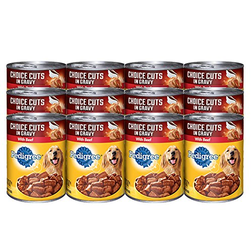 0765829964109 - PEDIGREE CHOICE CUTS IN GRAVY WITH BEEF CANNED DOG FOOD 22 OUNCES (PACK OF 12)