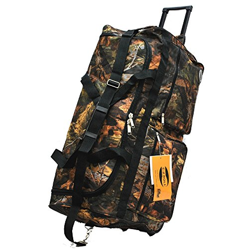 0766544817756 - E-Z ROLL REAL TREE HUNTING ROLLING DUFFEL BAG SIZE 30 IN 3 COLORS (BLACK TRIM)
