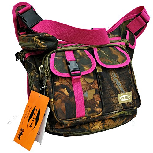 "0766544818036 - ""E-Z TOTE"" REAL TREE PRINT HUNTING SHOULDER BAG IN 3 COLORS (PINK TRIM)"