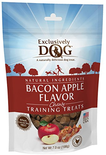 0767451512000 - EXCLUSIVELY DOG BACON APPLE FLAVOR CHEWY TRAINING TREATS