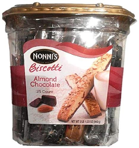 0767563930945 - NONNI ALMOND CHOCOLATE BISCOTTI, 2.07-POUND, 2 LBS 1.25 OZ