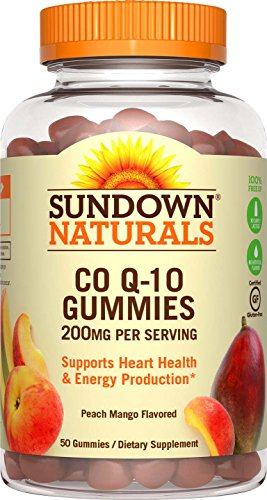 0767674184749 - SUNDOWN NATURALS CO Q-10 200 MG, 50 GUMMIES
