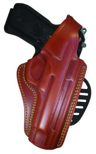 0768574104585 - GOULD & GOODRICH 807-92FLH GOLD LINE PADDLE HOLSTER - LEFT HAND (CHESTNUT BROWN) FITS BERETTA 92 COMPACT, 92 CENTURION, 92D, 92D COMPACT, 92F, 92FC COMPACT, 92FS, 92 FS CENTURION, 92G, 92G CENTURION, 96 CENTURION, 96, 96D, 96D CENTURION, 96DS, 96G, 96FS