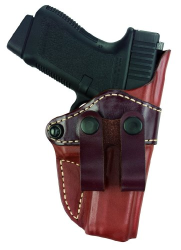 0768574110494 - GOULD & GOODRICH 810-195 GOLD LINE INSIDE PANTS HOLSTER (CHESTNUT BROWN) FITS MOST FULL-SIZE 1911-TYPE PISTOLS WITH 4.75 IN. TO 5.0 IN. BBL INCL. BROWNING HI-POWER; COLT DELTA, ELITE, GOLD CUP, GOV'T, 1911A1; KIMBER CUSTOM, TARGET, GOLD MATCH, ROYAL; PAR