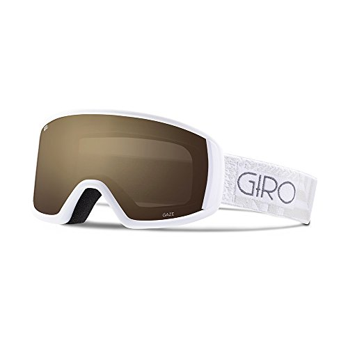 0768686726033 - GIRO WOMEN'S GAZE: SNOW GOGGLES - FRAME: WHITE POCKET SQUARE; LENS: AMBER ROSE