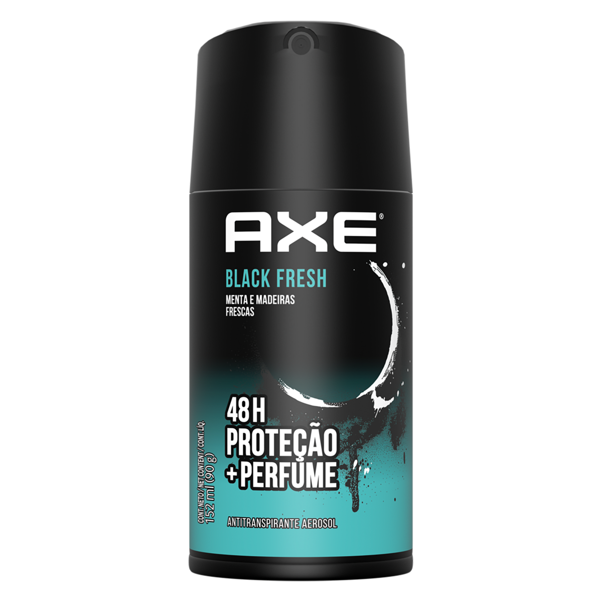 7791293028774 - ANTITRANSPIRANTE SPRAY MENTA E MADEIRAS FRESCAS AXE BLACK FRESH 152ML