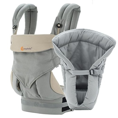 7798558130517 - ERGOBABY BUNDLE - 2 ITEMS: GREY FOUR POSITION 360 BABY CARRIER, GREY PERFORMANCE COOL MESH INSERT