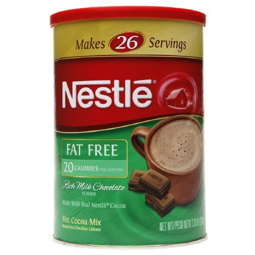 0780012458241 - NESTLE HOT COCOA FAT FREE CANISTER 7.33 OZ (207 G)
