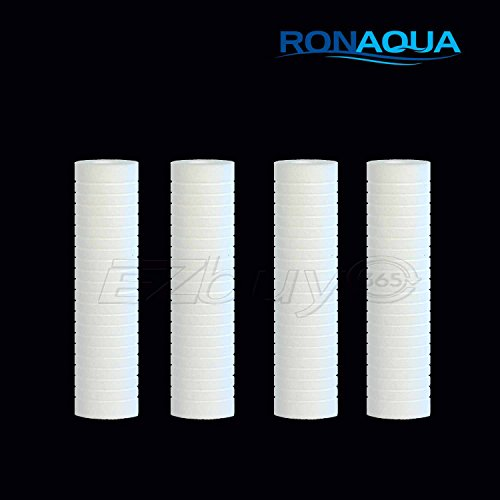 Dirt Made from Polypropylene Ronaqua Sediment Water Filter Cartridge 10x 2.5 Silt Removes Sand Rust 6 Pack, 5 Microns Four Layers of Filtration