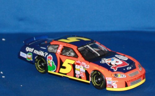 0781317184835 - ACTION COLLECTIBLES - KELLOGG'S / GOT MILK? RACING - TERRY LABONTE #5 1/24 NASCAR DIECAST SCALE STOCK CAR - 2003 MONTE CARLO