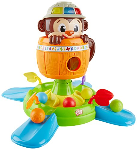 0783149880480 - BRIGHT STARTS BABY TOY, HIDE 'N SPIN MONKEY