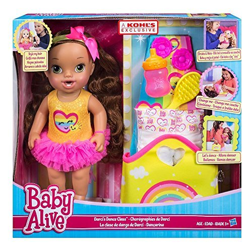 0783318529585 - BABY ALIVE DARCIS DANCE CLASS BROWN HAIR DOLL