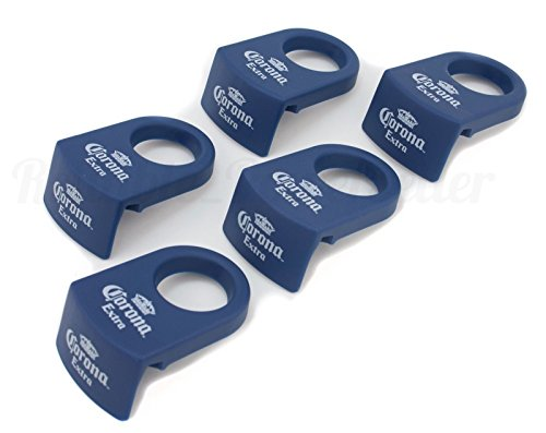 0784316512364 - 5 CORONA EXTRA BEER BLUE MARGARITA CORONITA / CORONARITA BOTTLE CLIPS ~ NEW