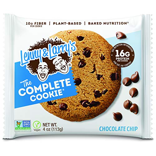 0787692837618 - LENNY & LARRY'S THE COMPLETE COOKIE, CHOCOLATE CHIP, SOFT BAKED, 16G PLANT PROTEIN, VEGAN, NON-GMO, 4 OUNCE COOKIE (PACK OF 6)