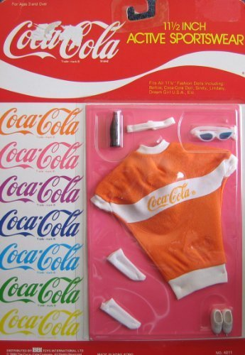 0787793647321 - COCA COLA ACTIVE SPORTWEAR FASHIONS FOR BARBIE, SINDY, LINDSEY, DREAM GIRL USA & 11.5 FASHION DOLLS BY COCA-COLA