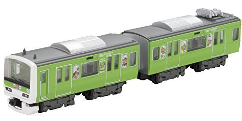0787793707353 - (2 CARS INTO TOP + MIDDLE) YAMANOTE LINE TRAIN RILAKKUMA WRAPPING OF B TRAIN SHORTY E231 SYSTEM GREEN BY BANDAI