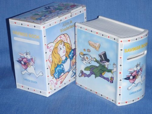 "0787799690024 - PAUL CARDEW ""ALICE IN WONDERLAND"" - SAVINGS BOOK MONEY BANK BY ALICE IN WONDERLAND SERIES"