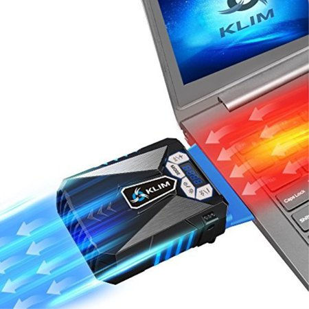 0788012515018 - KLIM - INNOVATIVE COOLING DESIGN - GAMING LAPTOP COOLER - HIGH PERFORMANCE FAN - USB CONNECTION - COOLING PAD - AIR VACUUM