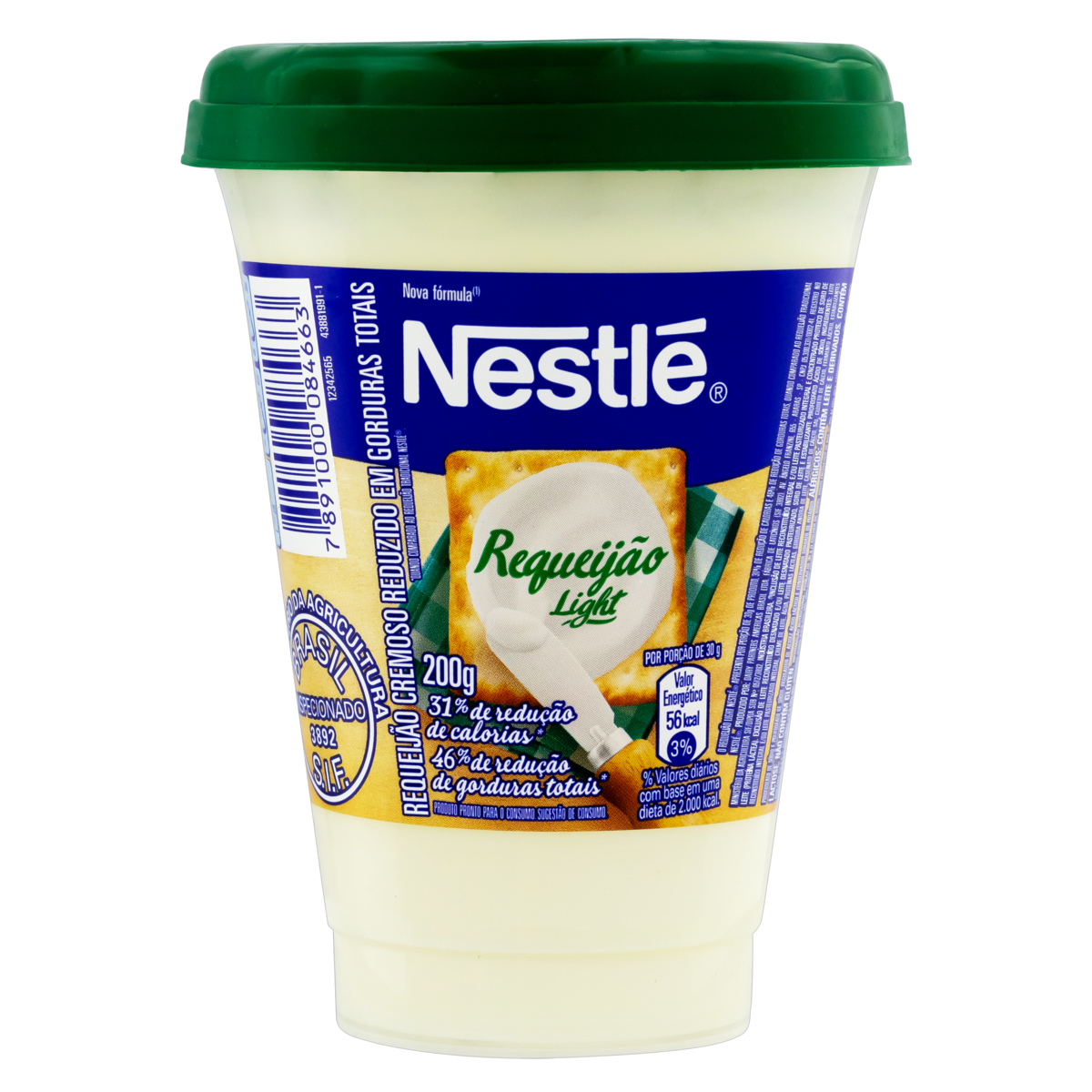 7891000084663 - REQUEIJÃO CREMOSO LIGHT NESTLÉ COPO 200G