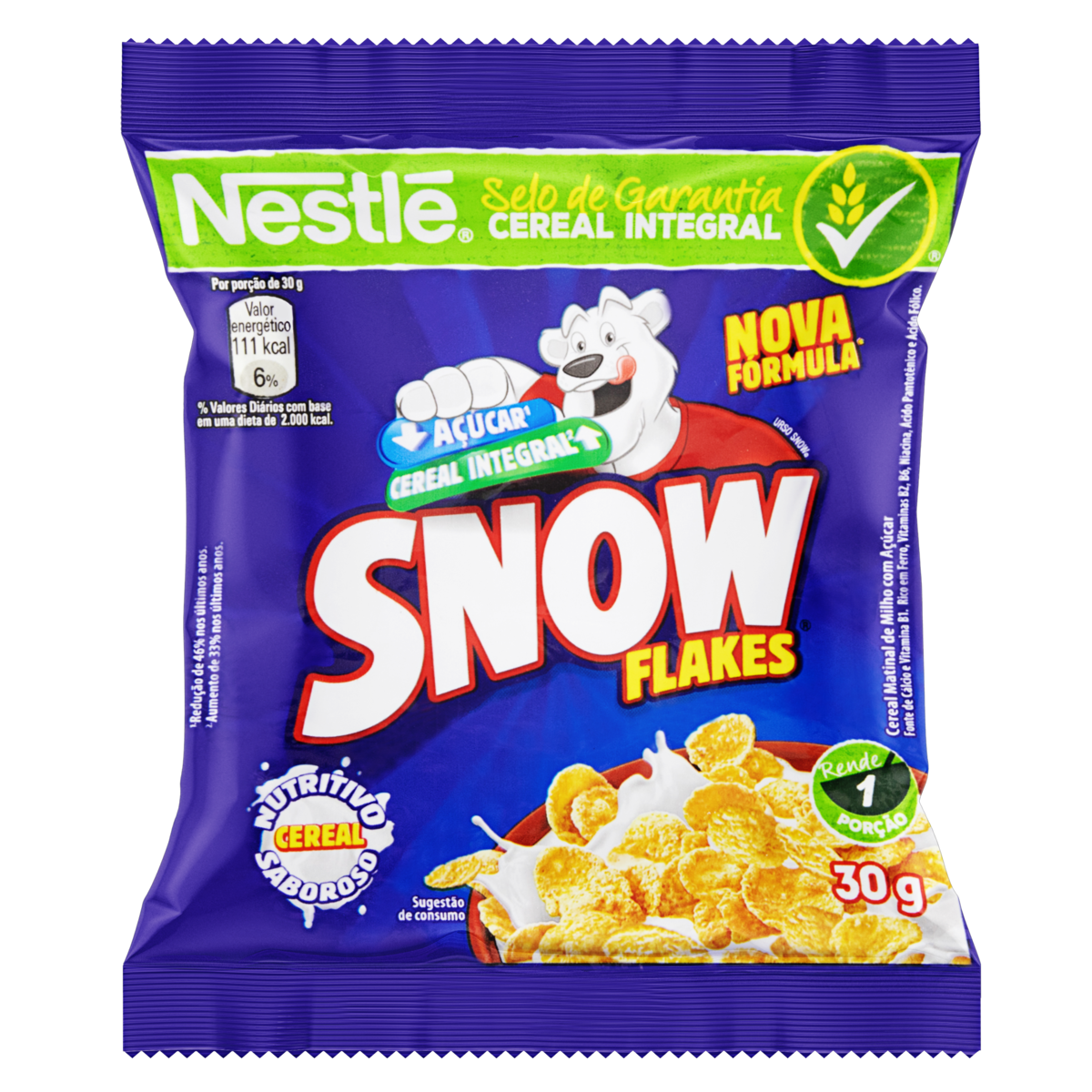 7891000368503 - CEREAL MATINAL NESTLÉ SNOW FLAKES PACOTE 30G
