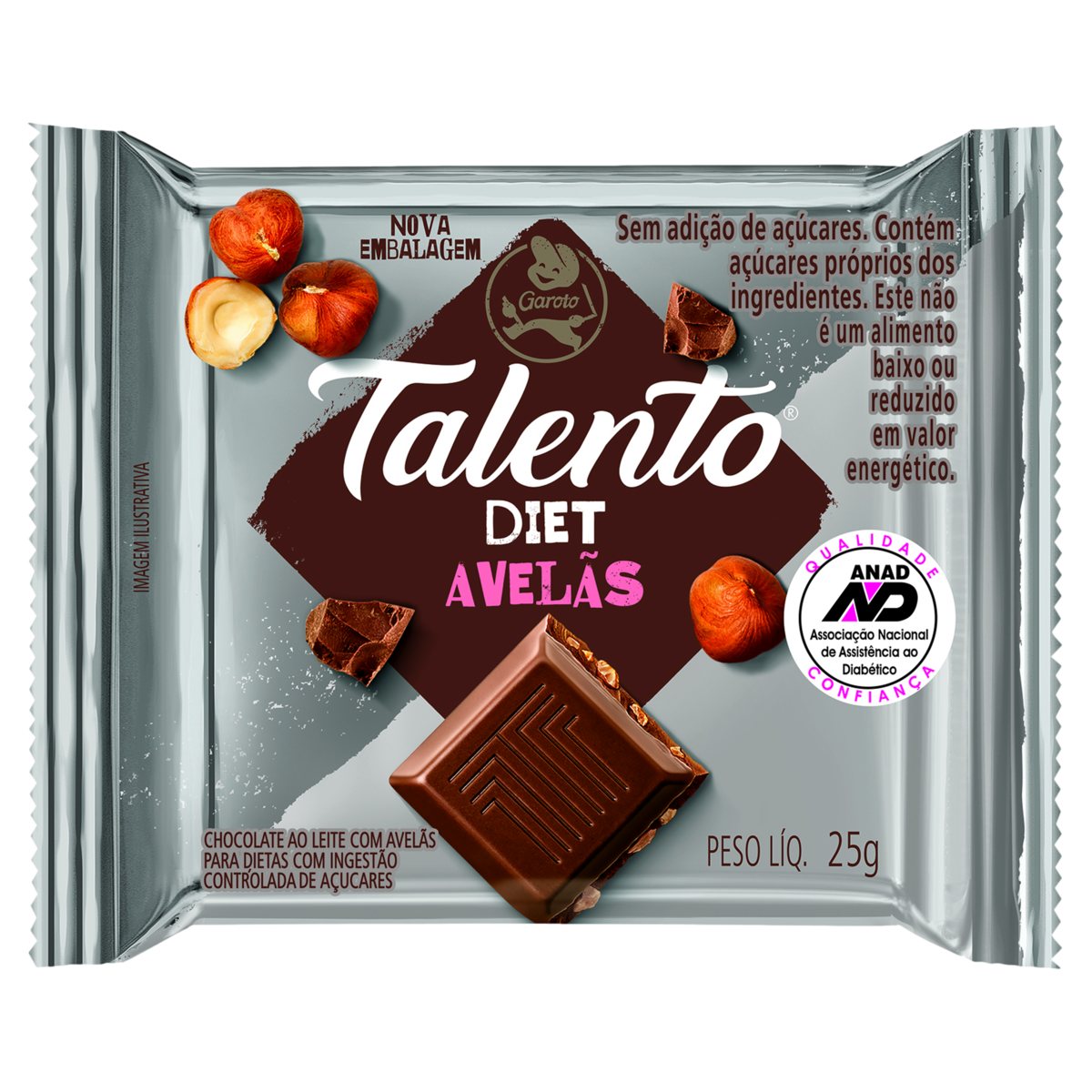 7891008074024 - BB TALENTO MINI DIET C/AVELA 15X | BB TALENTO MINI DIET C/AVELA 15X