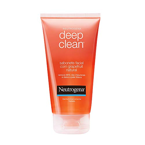 7891010972226 - SABONETE LÍQUIDO GRAPEFRUIT NATURAL FACIAL NEUTROGENA DEEP CLEAN BISNAGA 150G