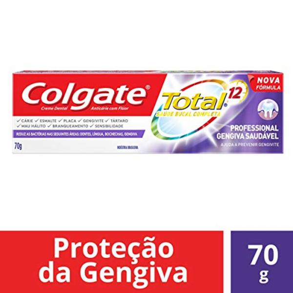 7891024135358 - CREME DENTAL COLGATE TOTAL 12 PROFESSIONAL WHITENING CAIXA 70G