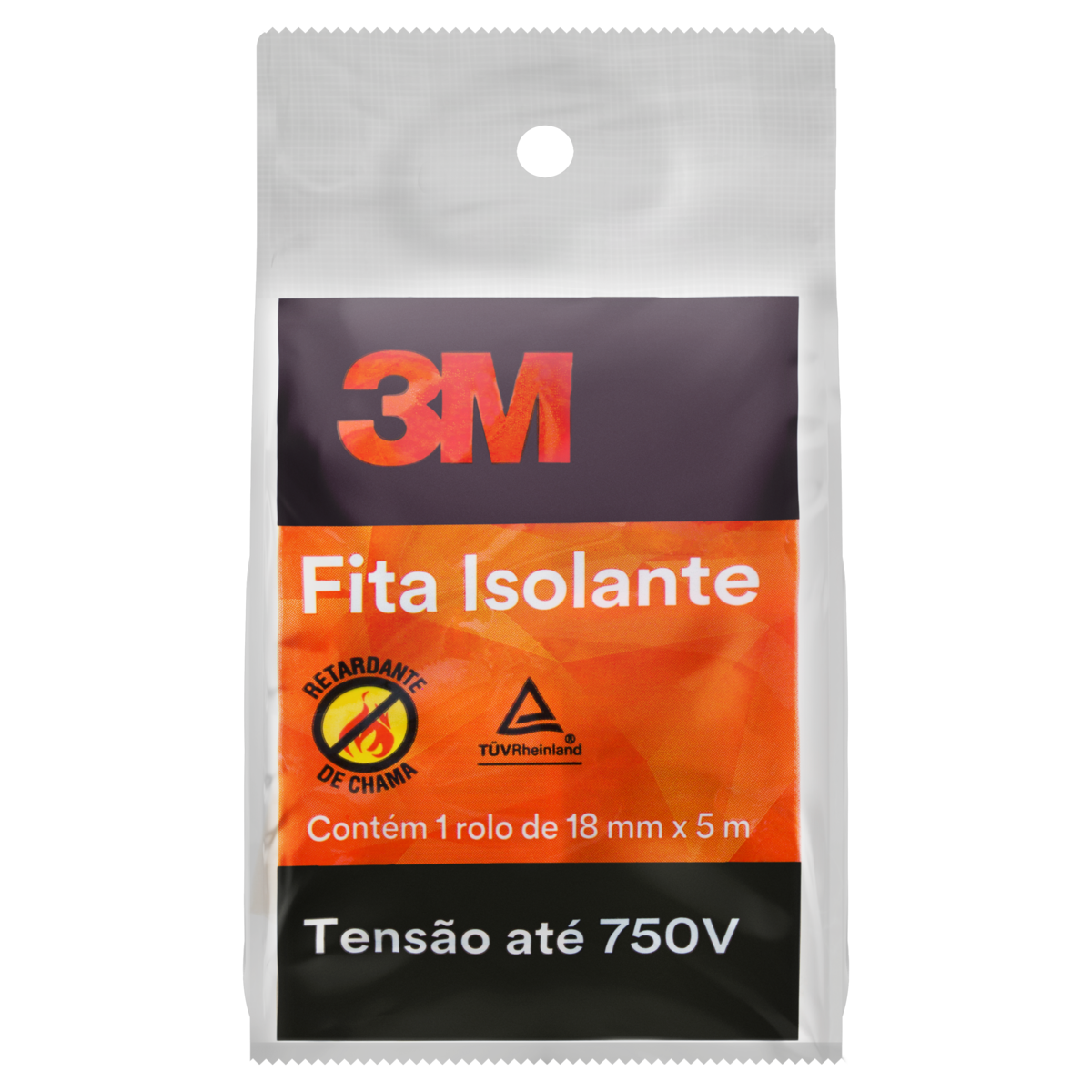 7891040125456 - FITA ISOLANTE 750V 3M 18MM X 5M