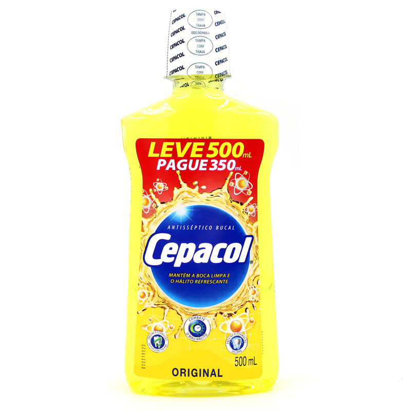 7891058016050 - ANTISSÉPTICO BUCAL CEPACOL TRADICIONAL PAGUE E LEVE 500ML