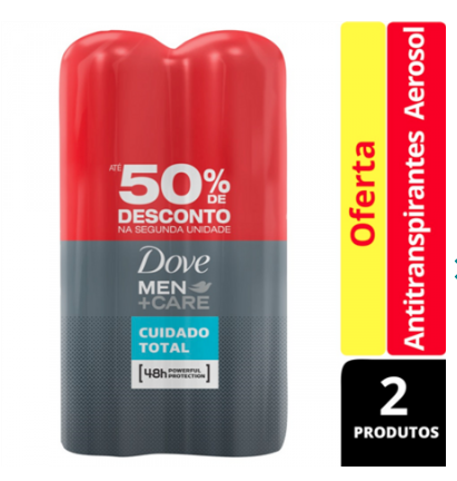 7891150053465 - DESODORANTE ANTITRANSPIRANTE MEN+CARE CUIDADO TOTAL 150ML DOVE