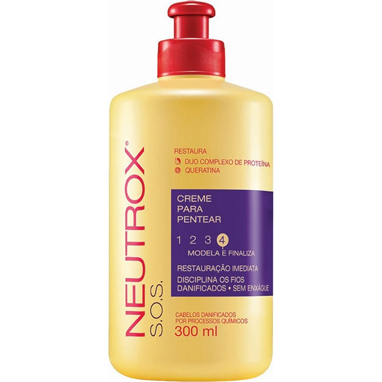 7891176117165 - CREME PARA PENTEAR NEUTROX 300ML S.O.S UNIT