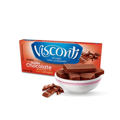 7891962035543 - BISCOITO WAFER VISCONTI DUPLO CHOCOLATE