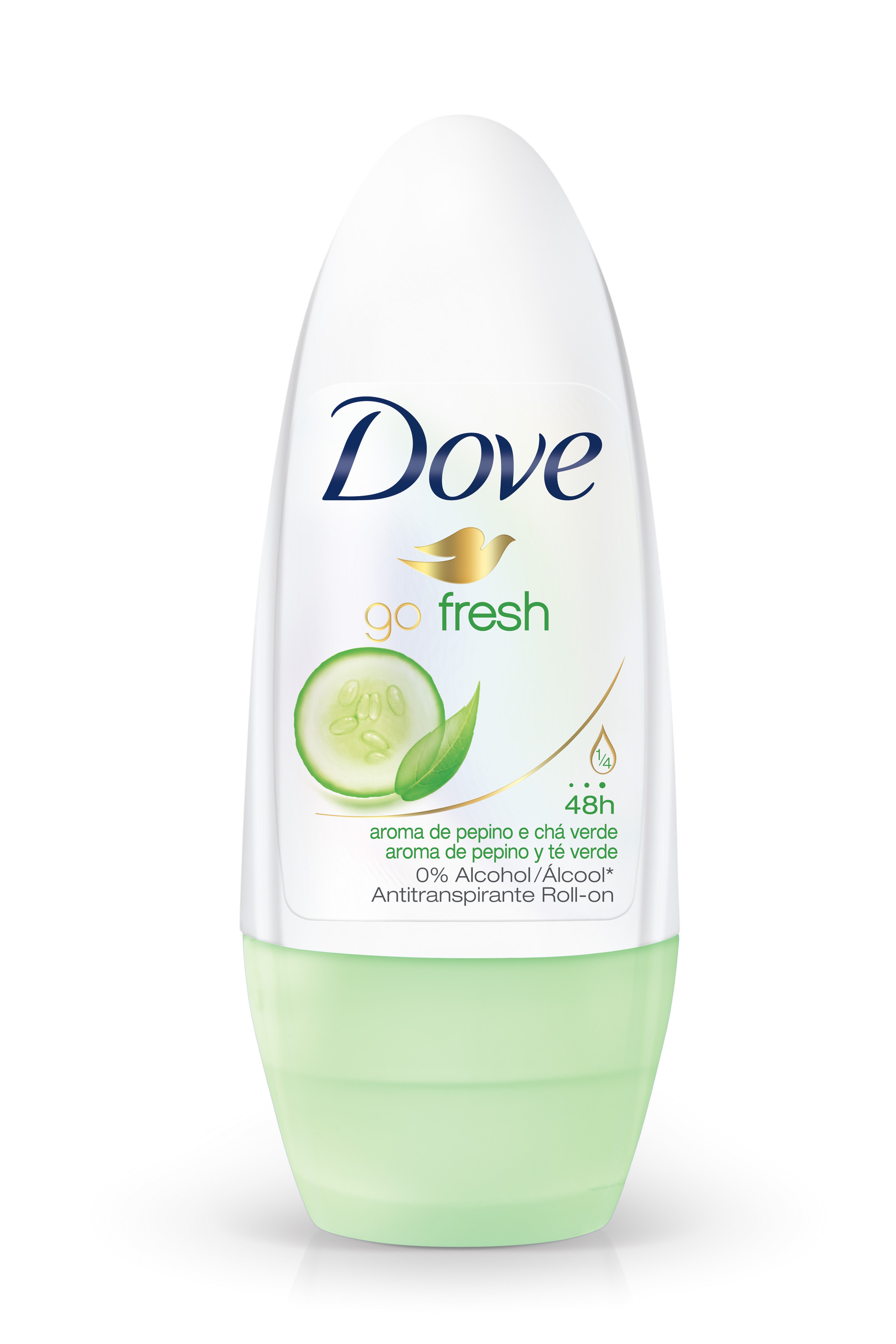 0000078924512 - DESODORANTE ANTITRANSPIRANTE ROLL ON DOVE GO FRESH PEPINO & CHÁ VERDE 50ML