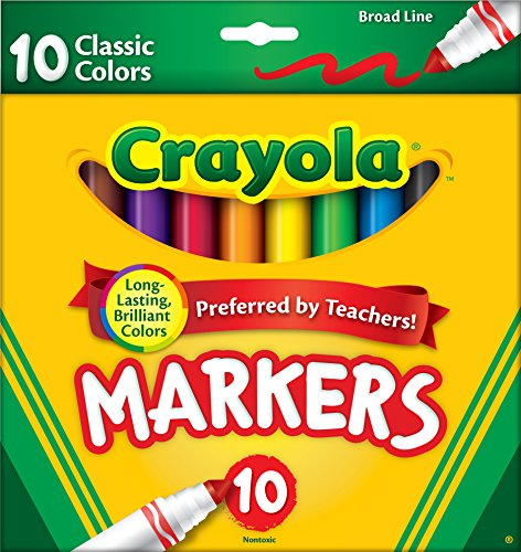 0789264221566 - CRAYOLA 10CT CLASSIC BROAD LINE MARKERS