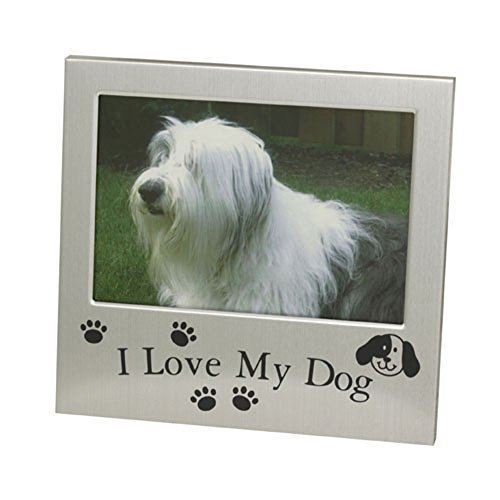 7893220115141 - PORTA RETRATO I LOVE MY DOG ALUM 13X9CM