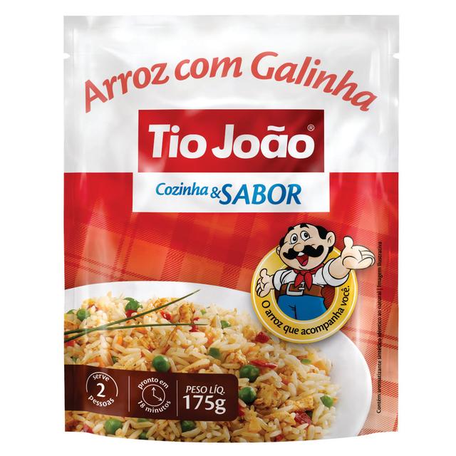 7893500012689 - ARROZ COM GALINHA TIO JOÃO COZINHA & SABOR 175G