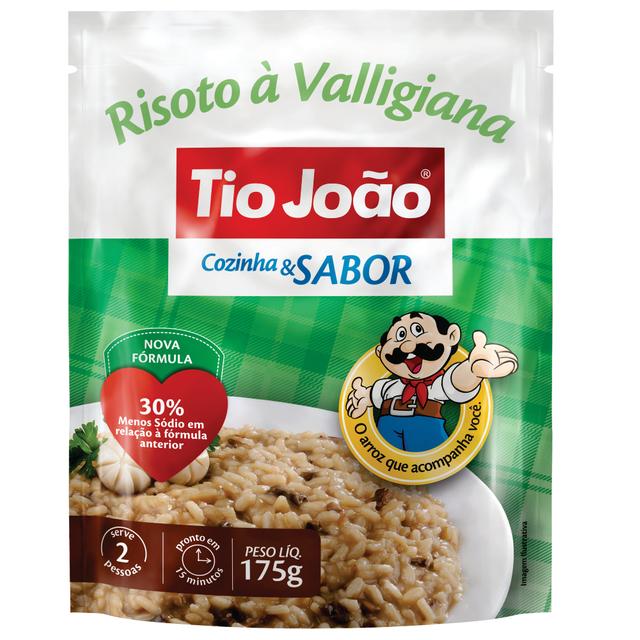 7893500012696 - ARROZ TIO JOÃO RISOTO À VALLIGIANA COZINHA & SABOR 175G
