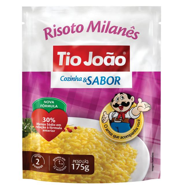 7893500012719 - ARROZ TIO JOÃO RISOTO MILANÊS COZINHA & SABOR 175G