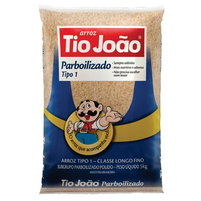7893500018452 - ARROZ PARBOILIZADO TIO JOÃO TIPO 1 5KG