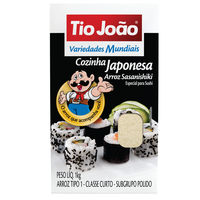 7893500019220 - ARROZ SASANISHIKI TIO JOÃO VARIEDADES MUNDIAIS COZINHA JAPONESA 1KG