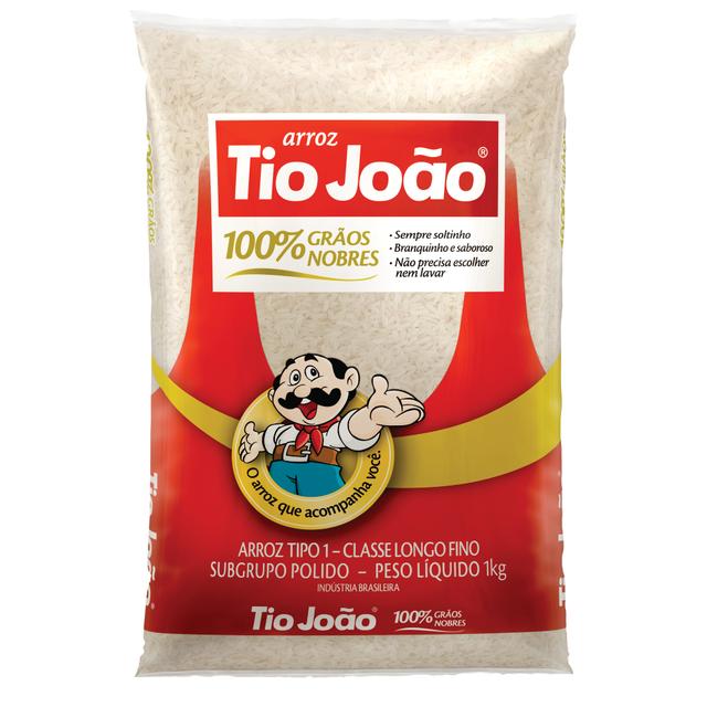 7893500020110 - ARROZ TIO JOÃO 100% GRÃOS NOBRES TIPO 1 CLASSE LONGO FINO 1 KG