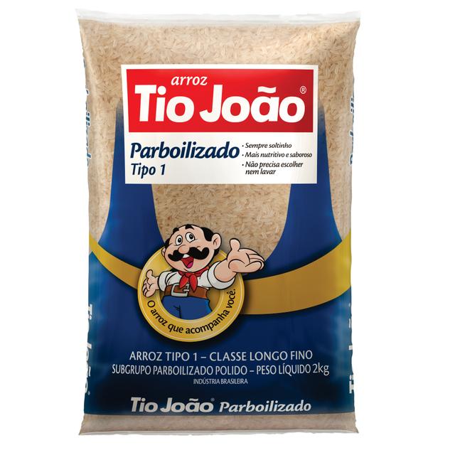 7893500023869 - ARROZ PARBOILIZADO TIO JOÃO TIPO 1 2KG