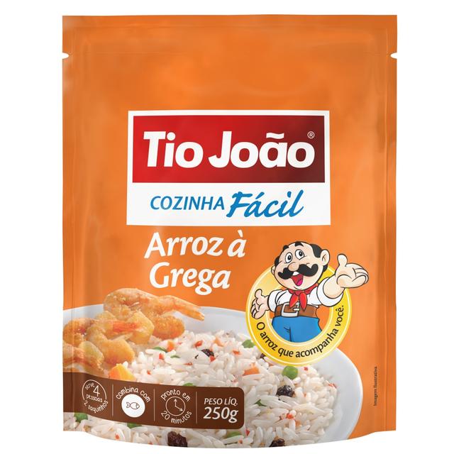 7893500025337 - ARROZ À GREGA TIO JOÃO COZINHA FÁCIL 250G