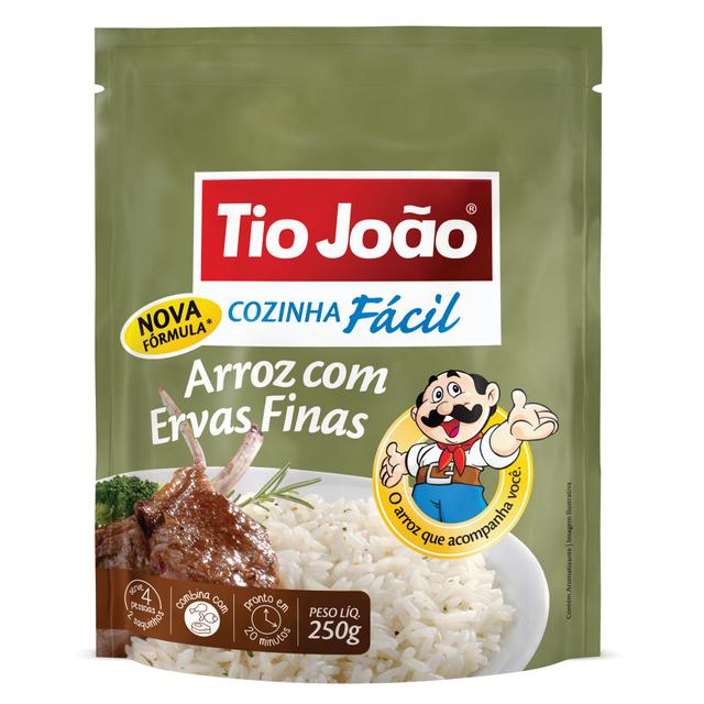 7893500025344 - ARROZ COM ERVAS FINAS TIO JOÃO COZINHA FÁCIL 250G