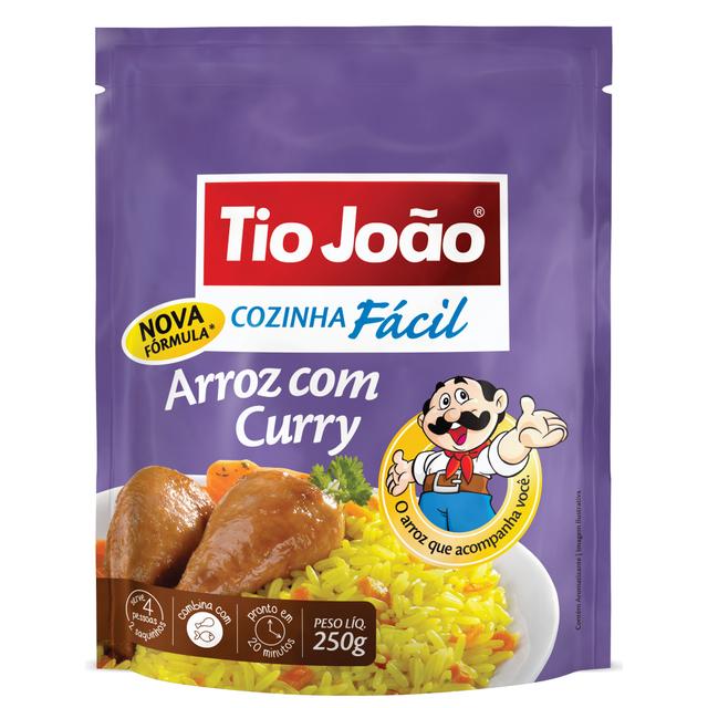 7893500025351 - ARROZ COM CURRY TIO JOÃO COZINHA FÁCIL 250G