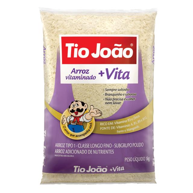7893500025740 - ARROZ TIO JOÃO +VITA - TIPO 1 CLASSE LONGO FINO 1KG