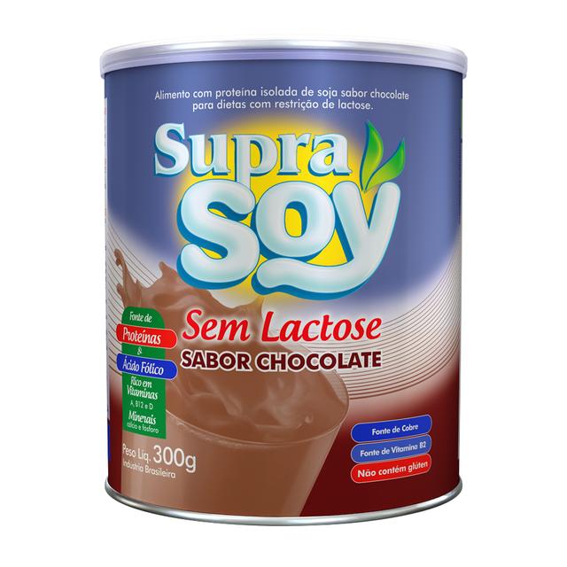 7893500026044 - ALIMENTO EM PÓ SUPRA SOY SEM LACTOSE SABOR CHOCOLATE 300G